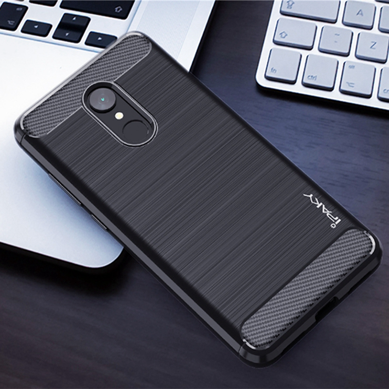 IPAKY Original Texture Brushed Phone Case For Xiaomi Redmi 5 TPU full Protection Cover Case For xiaomi redmi5 Plus silicone Capa in Fitted Cases from Cellphones Telecommunications