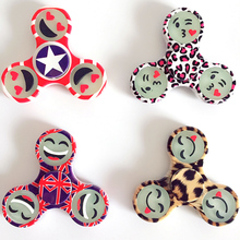 Emoji Leopard Print Hand Tri-Spinners Toys Plastic EDC Spinners Fidget Spinner For ADHD Kids/Adult Anti Stress