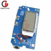 Dual USB 18650 Lithium Battery Charging Board Mobile Power Bank Charging Module PCB Board LCD Display for Arduino DIY 5V 1A 2.1A