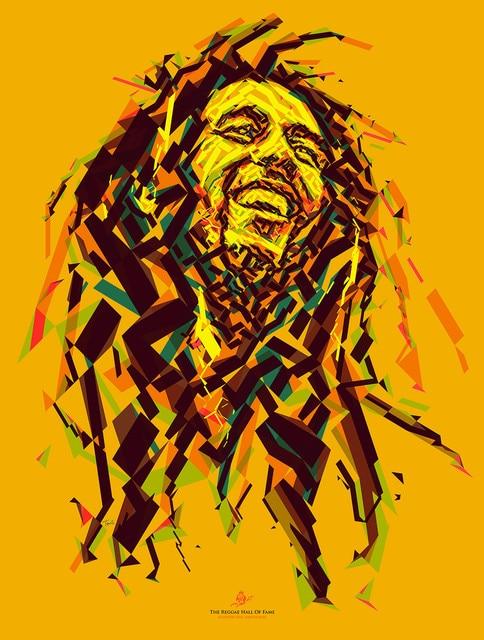 Pop Art Jamaica Reggae Bob Marley Rock Music Retro Vintage Kraft ...