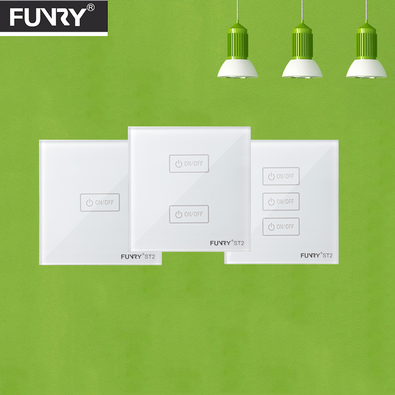 Funryn EU Wireless 1 2 3 Gang WiFi Light Switch,Smart Home Automation Remote Control Touch Panel Switch Via Broadlink RM Pro Rm2 sonoff touch wall wifi light switch us eu intelligent glass panel smart home wireless remote switch control via by phone