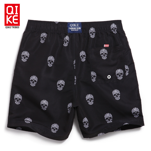 Boardshorts men surf swimsuit beach sport running shorts mens skull bermuda masculina surf gym joggers large size swimwear 1