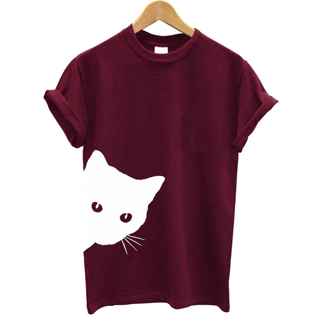 Cotton Casual Funny Printed T Shirt 18