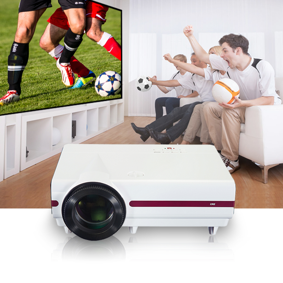 Portable LCD LED projector 720P home theatre 3500Lumens Mini projector proyector with USB AV cable Built