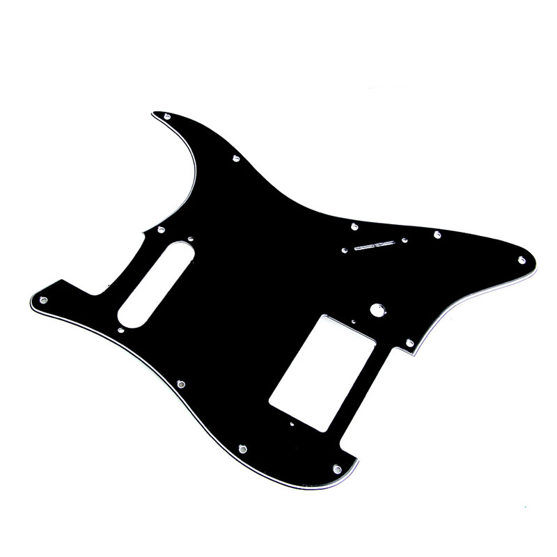 3 Ply Guitar Pickguard Guard board For Fender Stratocaster Strat HS Single Humbucker Black