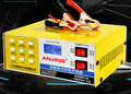 Carregador de Bateria de carro 12 V 24 V Volts Motocicleta Cobre Puro Reparação de Pulso Inteligente Carregador de Bateria de Automóvel