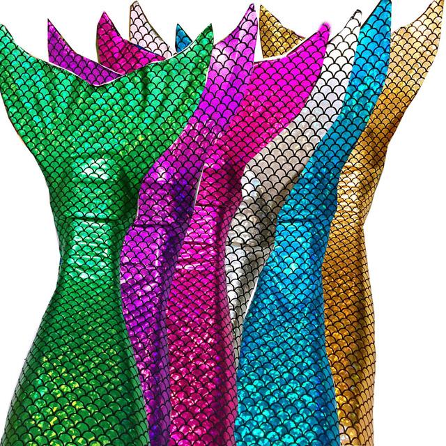 Puedes nadar Cola de Sirena colas (con monoaleta) + Bikini Top Girls Niños Shinning ESCALA natación swimware chicas vestido de cosplay regalo