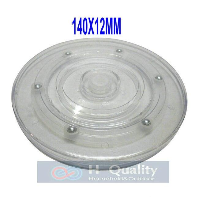 DemüTigen Glatte Sehr Langlebig 140x12 Mm 360 Grad Manuelle Swivel Acryl Display-ständer Rack Schwenkplatte Mit Transparente Basis Halten 15kgs Möbel