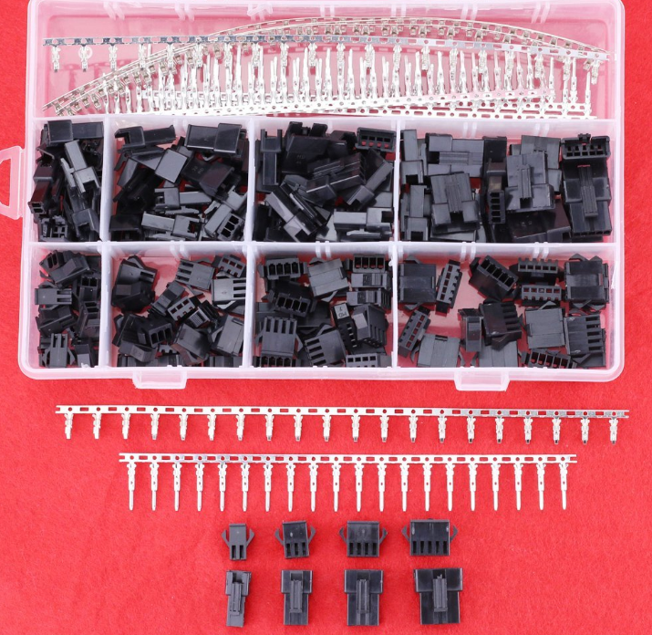 520Pcs 2.5mm Pitch 2 3 4 5 Pin JST SM Male & Female Plug Housing and Male/female Pin Header Crimp Terminals Connector Kit 100sets lot sm 2 3 4 5 6pin 2 54 female and male jst 2 54mm sm2 54 connector 6 in 1 connectors