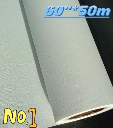 60 50m big roll thin inkjet canvas 110g 100 polyester canvas for inkjet printer