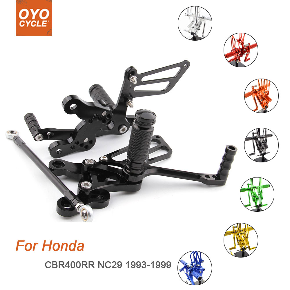 For Honda CBR400RR NC29 1993-1999 Motorcycle Rear Set Accessories CNC Adjustable Rearset Foot Pegs CBR 400RR Foot Rests