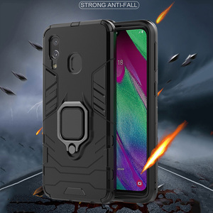 Image 2 - Armor Ring Case For huawei Y7 2019 case Magnetic Car Hold Shockproof Soft Bumper Back Phone Cover For huawei Y7 2019 case