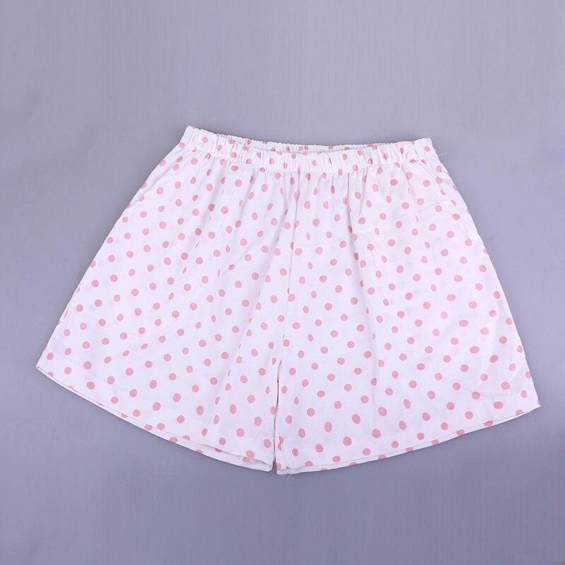UNIKIWI. Милые летние хлопковые Пижамные шорты для сна, женские свободные пижамные штаны с эластичной резинкой на талии размера плюс M-XL отдыха. 21 цвет - Цвет: 013