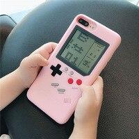 Funda de teléfono Gameboy Tetris para iPhone Xs max xr x 7 8 plus 6 6s  carcasa completa de PC duro Gameboy  carcasa trasera para iPhone 6s plus