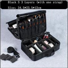 Professional Makeup Bag Organizer Box Artist  Larger Bags Cute Suitcase Boxes Travel Cosmetic Pouch Handbag