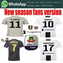 68b3e2f95ce Hot sale 2018 Serie A patch Thai Quality RONALDO JUVENTUSES Soccer Jerseys  18 19 JUVE Dybala Home Away Third Football Shirt