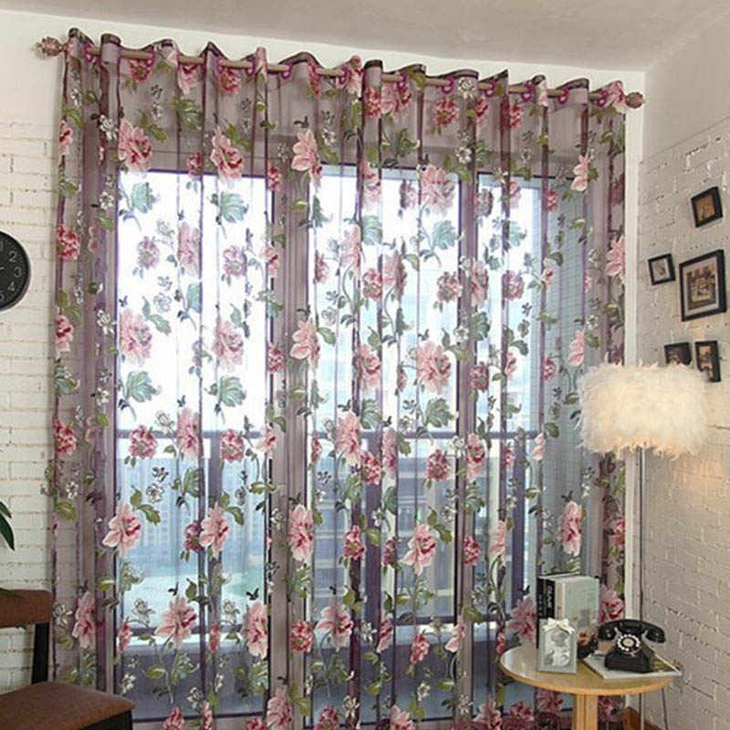 Detail Feedback Questions About Peony Curtains Bedroom Kitchen