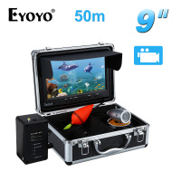 EYOYO 9 Video Fish Finder 50M Waterproof Fishing Camera Underwater DVR Recorder Fishfinder 12pcs White LED
