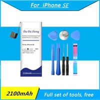 Da Xiong 2100mAh para Apple iPhone SE batería de alta capacidad baterías de teléfono + herramientas gratuitas