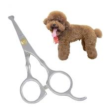 Ножницы для волос для домашних собак, безопасные скругленные кончики, филировочные ножницы для стрижки животных с острым краем, инструменты для стрижки волос Tesoura