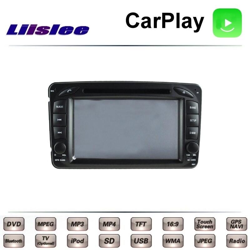 Pour Mercedes Benz CLK A209 C209 MK2 2002 ~ 2009 LiisLee voiture multimédia TV DVD GPS Radio Carplay Style Original Navigation Navi