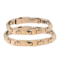 2016 New High Polish Pure Germanium Rose Gold Tungsten Bracelets Couple Lovers Gift Energy Balance Italian