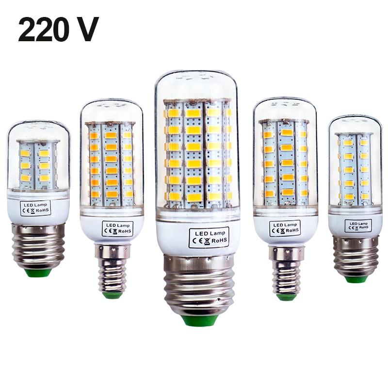 E27 E14 LED Light lamp AC 220 V SMD 5730 Led corn bulb lighting lamp 69/48/36/24Led E27 Led Bulbs Z25 e27 5w 380lm 6000k 36 smd 5730 led white light corn bulb white translucent ac 220v