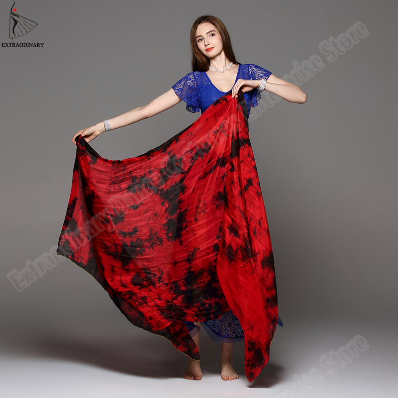 Image 5 - New 100% Veils Light Silk Belly Dance Hand Thrown Scarf Shawl Veil Silk 200cm 250cm 270cm Kids Adults Stage Performance 13 ColorBelly Dancing   -