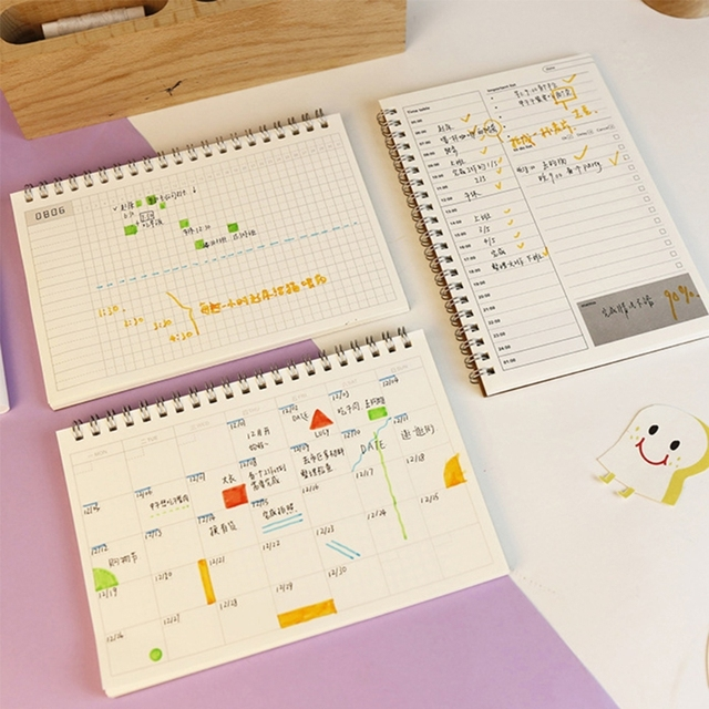 Planner Book Monthly Weekly Daily Agenda Schedule Blank Diary DIY