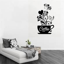 Personality DIY Coffee Cup Removable Wall Decal Family Home Sticker Mural Art Home Decor Children's Room Decoration#5(China)