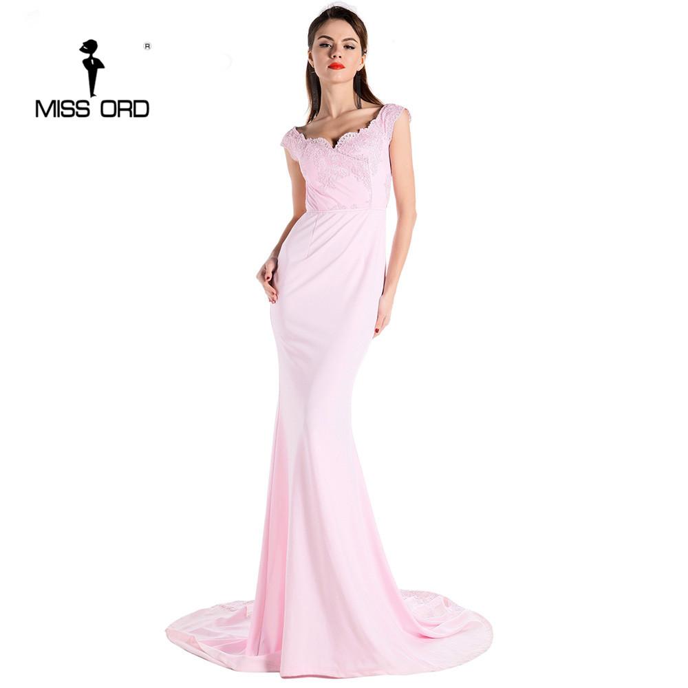 فستان سهرة  Missord جذاب مع ذيل وذو تصميم مميز 7