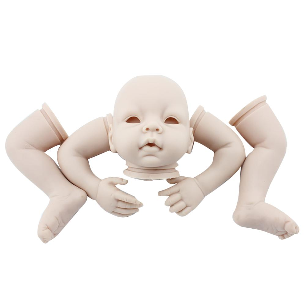 reborn doll kit limited edidtion lifelike soft silicone vinyl real gentle touch cheap unpainted doll parts Doll Accessories Baby