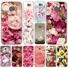 Peony Sunflowe Rose Daisy Plum blossom Plants Flower Hard for Samsung Galaxy A3 A5 J3 J5