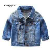 Brand ChanJoyCC Autumn Hot Sale Denim Jacket Warm Children S Coat Baby Boys Fashion Jeans Coat