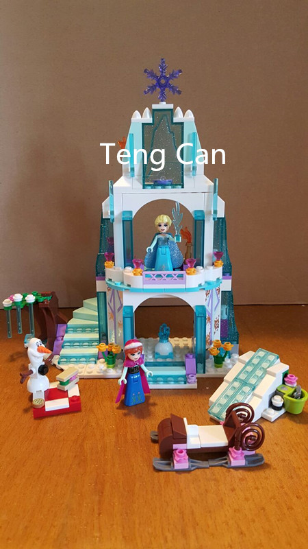 314Pcs 79168 Cinderella s Romantic Castle Anna Elsa Minifigures Building Blocks font b Educational b font