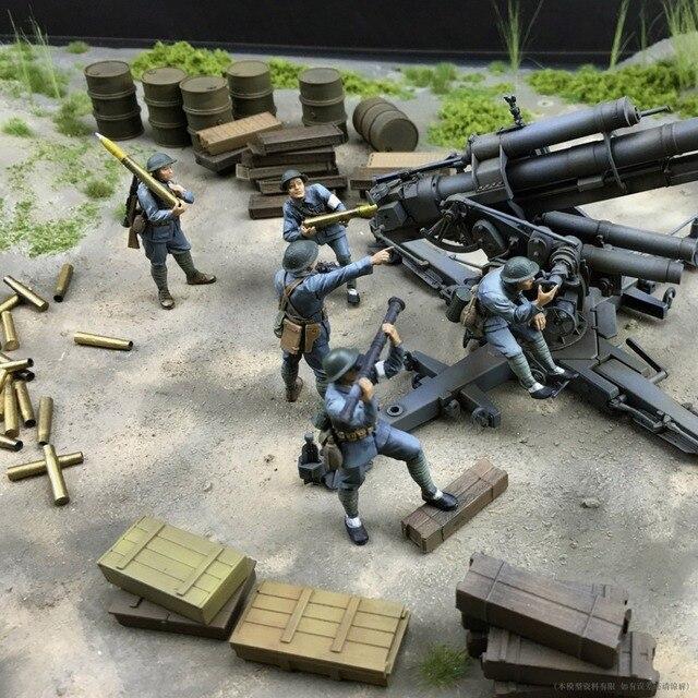 Смола солдат 1/35 смолы рисунок Битва из Нанкина в Антияпонской Войны 5 цифры