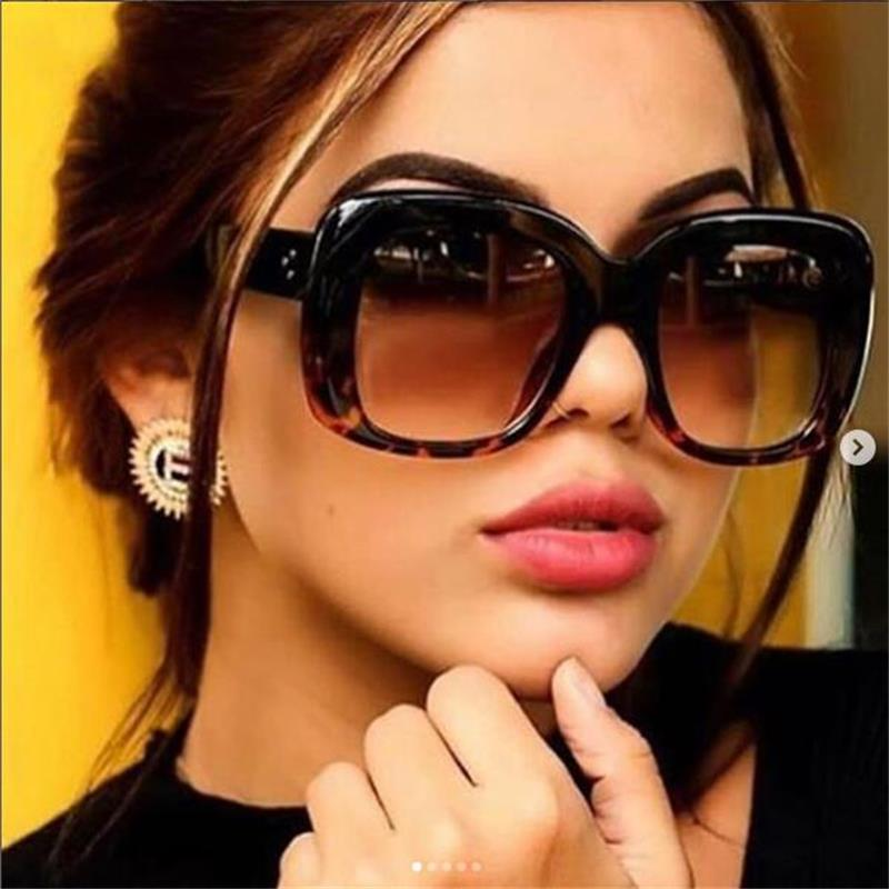 2018 Ladies Designer Square Sunglasses Women Luxury Brand Sun Glasses Men Shades Large Thick Clear Big Frame Sunglasses Black