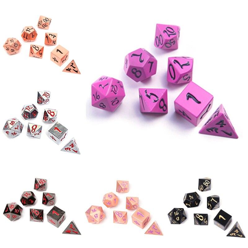 Chengshuo masmorras e dragões d20 rpg set poliédrico dados dnd metal 8 Atacado azul jogos de mesa digital de liga de Zinco dice padrão