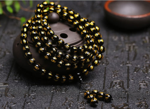 Koraba Fine Jewelry 8mm Tibetan Black Agate Bead Carve Mantra Om Mani Padme Hum Amulet Bracelet Free Shipping