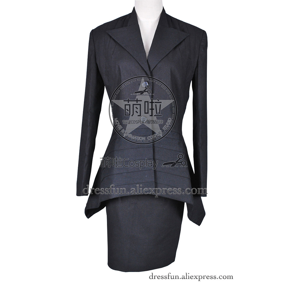 Who Buy The Doctor Cosplay Costume Black Dress Costume Uniform Fashion Outfits Party Lady Female Adult Version Daily Life