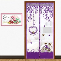 Sweet Lovers Design Anti Mosquito Net Curtain Magnetic Soft Door Protect From Insets Mesh Curtain
