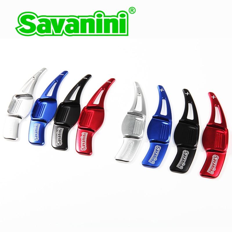 Savanini Aluminum 2pcs Car DSG Steering Wheel Shift Paddle Shifter Extension For Hyundai Veloster 2015 car