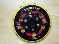10 unids/lote 15 orificios 5 pulgadas disco de lijado para pulidor de rupas, para lijadora con vacío, para lijadora neumática de 125mm de 5 pulgadas