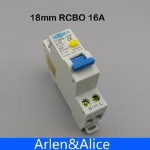 TOB3L-32F 18 ММ RCBO 16A 1 P+ N 6КА Остаточный ток выключателя с по сравнению с нынешним и предохранения от Утечки дифференциальный автомат, диф автомат, дифавтомат, УЗО