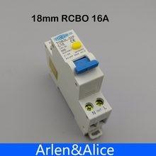 Disjuntor rcbo 16a 1p + n 6ka, disjuntor automático diferencial com proteção contra vazamento atual