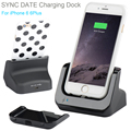 Dual Sync Date Relaxation Charger Cradle desktop Dock Station Adapter For iPhone 6 6s 6Plus 6sPlus 7 7Plus With USB line