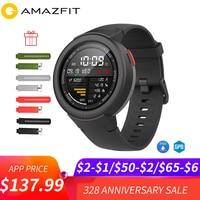 Бесплатная ремень фильм Английский Xiaomi Huami AMAZFIT Грани 3 Смарт часы gps + ГЛОНАСС IP68 Водонепроницаемый мульти спорта Smartwatch ответ на вызов