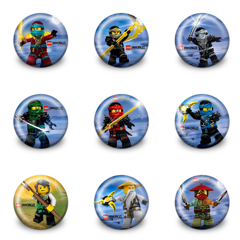 New Arrival 90pcs Bionicle Buttons Pins Badges Brooches Round Badges DIY Decor Fit For Travel Bags Travel Backbags Accessories
