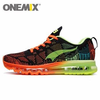 152108d4 ONEMIX Air Спортивная обувь для мужчин и женщин 97 Спортивная, с дышащей  сеткой уличные беговые кроссовки Max 12,5