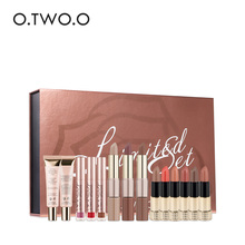 O.TWO.O Black Gold Series Make Up Tool Kit 14 Pieces/Set with Makeup Box Professional Beauty Set Cosmetics